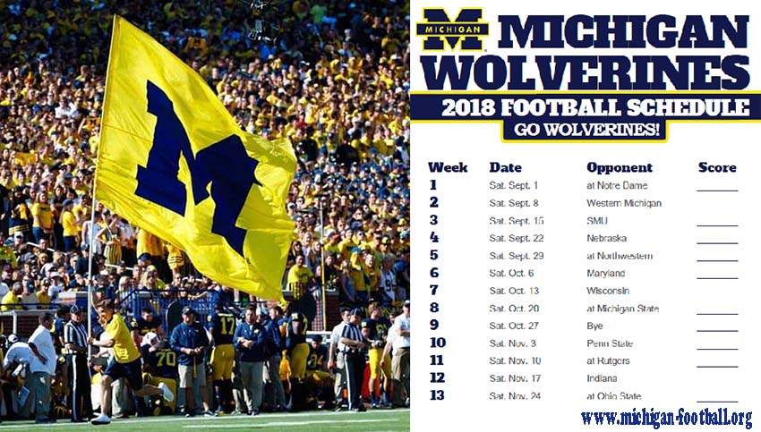 Michigan Football Schedule 2018